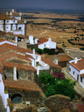 Rooftops and Buildings of Village Overlooking Countryside, Monsaraz, Portugal Photographic Print by Bethune Carmichael