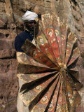 Priest Holding 15th Century Ceremonial Fan at Debre Tsion Rock Hewn Church in Cheralta, Ethiopia Photographic Print by Ariadne Van Zandbergen