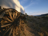 Covered Wagon at Bar 10 Ranch Near Grand Canyon Photographic Print by Todd Gipstein
