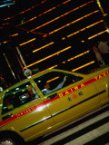 Taxi in Shinjuku's Red Light District, Tokyo, Kanto, Japan Photographic Print by Christian Aslund