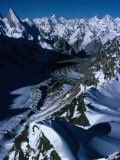 Gondoro Glacier from Gondoro Peak in Karakoram Range, Pakistan Photographic Print by Grant Dixon