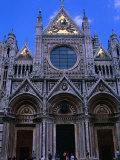 Facade of Duomo Siena, Tuscany, Italy Photographic Print by John Hay