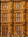 Architectural Detail of Neo-Gothic Houses of Parliament, London, England Photographic Print by Richard I'Anson