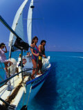 Sailing in the Bahamas, Bahamas Photographic Print by Greg Johnston