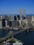 Brooklyn Bridge and East River, NYC Photographic Print by Mark Gibson