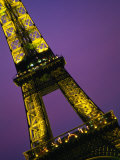 The Eiffel Tower at Night, Paris, France Photographic Print by John Hay