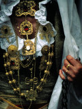 Costume Detail at Festa Del Redentore, Nuoro, Italy Photographic Print by Damien Simonis