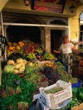 Fresh Produce Market, Greece Photographic Print by John Elk III