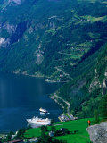 Cruiseship in the Geirangerford, Geiranger, Norway Photographic Print by Anders Blomqvist