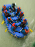 A Raft Trip Down the Rapids of the Kicking Horse River Photographic Print by Michael Melford