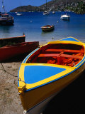 Boat Ashore in Port Elizabeth, Admiralty Bay, St. Vincent & the Grenadines Photographic Print by Wayne Walton