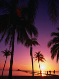 Sunset on the Coastal Isle of Youth, South Side of Cuba, Havana, Cuba Photographic Print by Greg Johnston