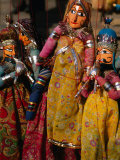 Rajasthani Puppets for Sale in Street Stall, Jaipur, India Photographic Print by Anders Blomqvist
