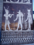 Egyptian Symbols in Pyramid Complex, Dubai, United Arab Emirates Photographic Print by Tony Wheeler