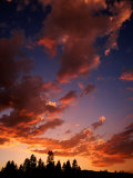 Clouds in Sky at Sunset, Truckee, USA Photographic Print by Woods Wheatcroft