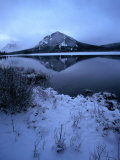 Vermilion Lake and Mount Rundle Behind, Banff National Park, Alberta, Canada Photographic Print by Mark Newman