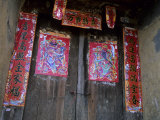 Chinese Door Gods, Yangdi Valley, Yangshuo, Guangxi, China Photographic Print by Raymond Gehman