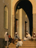 Men on Steps of Al Khulafa Al Rashidin Mosque, Asmara, Eritrea Photographic Print by Patrick Syder