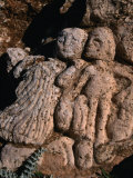 Ancient Rock Carvings of People and Animals at Slonta, Al Jabal Al Akhdar, Libya, Giclee Print