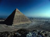 Pyramid of Chephren from Top of Pyramid of Mycerinus Giza, Egypt Fotografie-Druck von John Borthwick