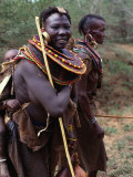 Turkana Women in Traditional Dress and Jewellery, Maralal, Rift Valley, Kenya Photographic Print by Mitch Reardon