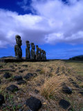 The Seven Raised Moai of Ahu Akivi, Chile Photographic Print by Jan Stromme