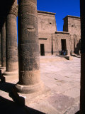 Outer Temple Court at 3Rd Century BC Temple of Philae, Aswan, Egypt Photographic Print by John Elk III