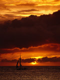 Sunset at White Beach, Boracay Island, Aklan, Philippines Photographic Print by Mark Daffey