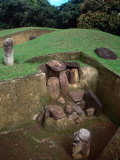 Ancient Burial Tomb in Grounds of San Agustin Archaeological Park, San Agustin, Huila, Colombia Photographic Print by Jane Sweeney