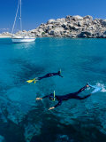 Two People Snorkelling, France Photographic Print by Jean-Bernard Carillet