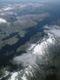 An Aerial View of Cordillera Darwin on Tierra Del Fuego Photographic Print by Gordon Wiltsie