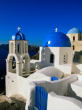 Greek Orthodox Church, Thira, Imerovigli, Greece Photographic Print by John Elk III