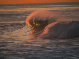 Breaking Surf at Sunset in La Jolla Photographic Print by Tim Laman