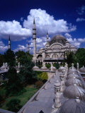 Roof of Suleymaniye Mosque, Istanbul, Turkey Photographic Print by Izzet Keribar
