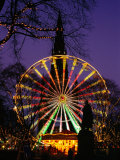 Scott Monument and Christmas Ferris Wheel in Princes Street Gardens, Edinburgh, United Kingdom Photographic Print by Jonathan Smith