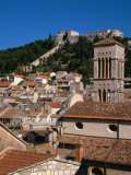 Citadel and Cathedral Belltower, Hvar, Croatia Photographic Print by Wayne Walton