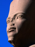 Bust of Amunet at Karnak Temple, Luxor, Egypt Photographic Print by John Elk III