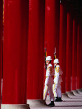 Changing of guard at Martyrs Shrine, Taipei, Taiwan Photographic Print by Martin Moos