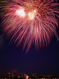 Fireworks Display Over Albert Park Lake, Melbourne, Australia Photographic Print by Greg Elms
