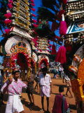 Kavadi Carrying at Thai Pusam Festival, Palani, India Photographic Print by Paul Beinssen