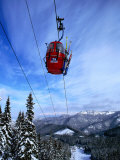 Red Cable-Car on Otupune Run, Jasna Resort. Jasna, Slovakia Photographic Print by Richard Nebesky