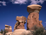 Rock Formations at Devils' Garden, Grand Staircase-Escalante National Monument, Utah, USA Fotografisk tryk af Mark Newman