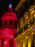 Galleries Lafayette Lit Up at Night for Christmas, Paris, France Photographic Print by Levesque Kevin