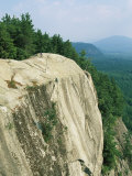 Mountain Biker on Edge of Cliff, Cathedral Rock, North Conway Photographic Print by Skip Brown
