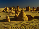 Rock Formations in the Sand of the Pinnacles Desert, Nambung National Park, Western Australia Photographic Print by Richard I&#39;Anson
