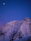 Moonrise over Mount Blanc De Cheilon, 3870 Meters Photographic Print by Gordon Wiltsie
