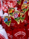 Souvenir Bags of Paprika with Spoons for Sale, Budapest, Hungary Photographic Print by Jonathan Smith