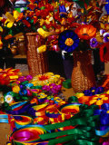 Crafted Flowers and Decorations for Sale, Kazimierz Dolny, Lubelskie, Poland Photographic Print by Krzysztof Dydynski