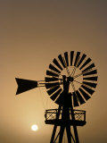 Windmill at Sunset, Isla De Lanzarote, Canary Islands, Spain Photographic Print by Paul Kennedy