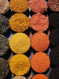 Pulses and Grains at Azadpur Market, Delhi, India Photographic Print by Richard I'Anson